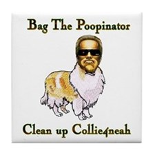 The Poopinator Design Preview Tile Coaster