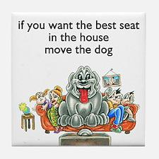 move the dog Design Preview Tile Coaster