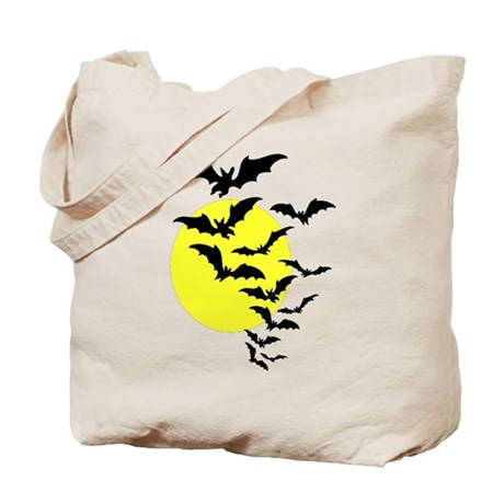 Bats and the Moon Tote Bag