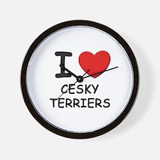 I love CESKY TERRIERS Wall Clock
