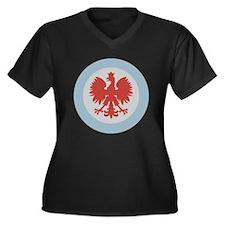Chicago Polish Logo Women's Plus Size V-Neck Dark