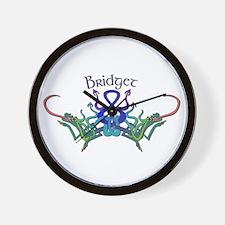Bridget's Celtic Dragons Name Wall Clock