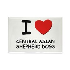 I love CENTRAL ASIAN SHEPHERD DOGS Rectangle Magne