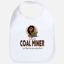 Future Coal Miner like Grandpa Baby Infant Bib