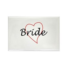Bride (Red Heart) Rectangle Magnet