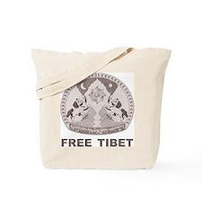 Vintage Free Tibet Tote Bag