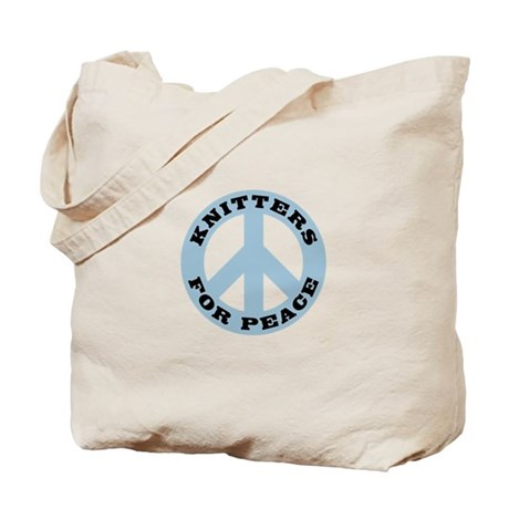 Knitters For Peace Tote Bag