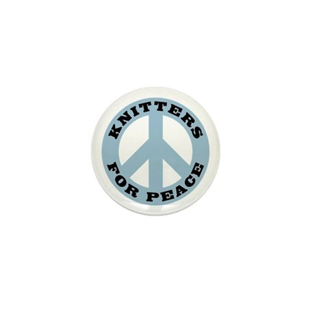 Knitters For Peace Mini Button (10 pack)