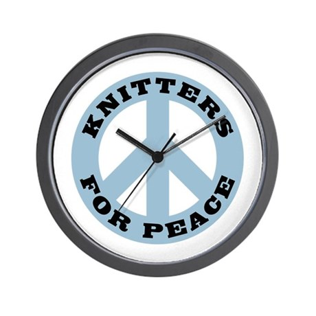 Knitters For Peace Wall Clock