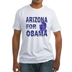 Arizona for Obama Fitted USA T-Shirt