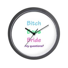 Bitch Boss Bride, Any Questions? Wall Clock