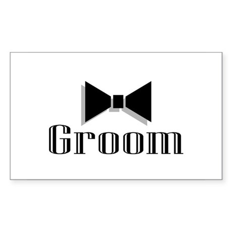 Groom Rectangle Sticker