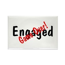 Engaged (Game Over) Rectangle Magnet