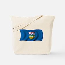 Wavy Alberta Flag Tote Bag