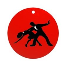 Ballroom Dancers Silhouette Christmas Ornament