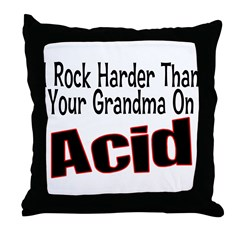 Rock Harder Throw Pillow