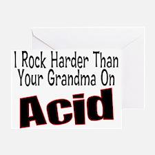 Rock Harder Greeting Card