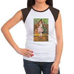Witch Girl Women's Cap Sleeve T-Shirt