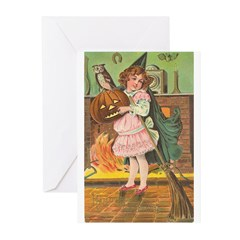 Witch Girl Greeting Cards (Pk of 20)