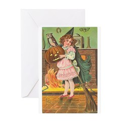 Witch Girl Greeting Card