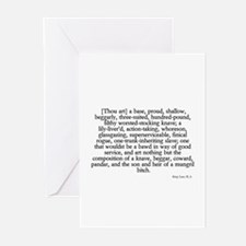 longest insult Greeting Cards (Pk of 10)