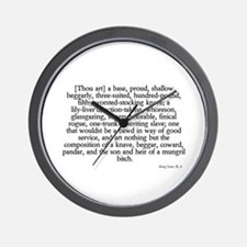 longest insult Wall Clock