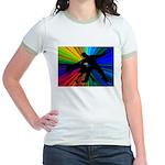 Dazzling Dance Silhouettes Jr. Ringer T-Shirt