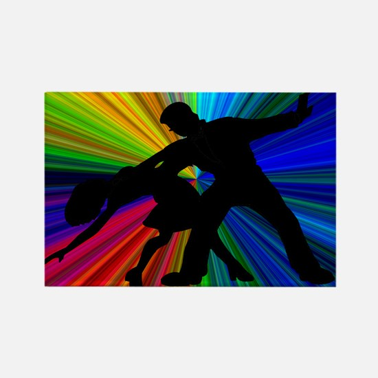 Dazzling Dance Silhouettes Rectangle Magnet