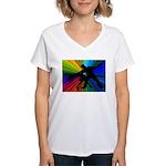Dazzling Dance Silhouettes Women's V-Neck T-Shirt