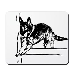 German Shepherd obedience ret Mousepad