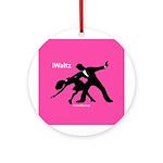iWaltz Ballroom Dance Ornament (Round)