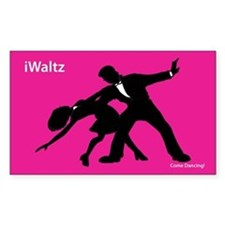 iWaltz Ballroom Dance Rectangle Decal