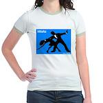 iWaltz Ballroom Dance Jr. Ringer T-Shirt