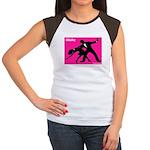 iWaltz Ballroom Dance Women's Cap Sleeve T-Shirt