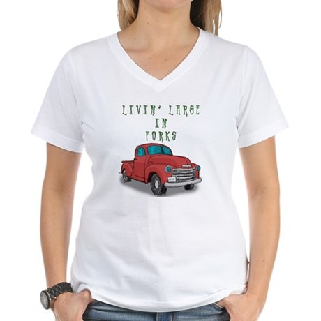 Livin' Large Women's V-Neck T-Shirt