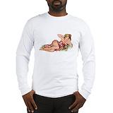 Hawaiian girl Long Sleeve T-shirts