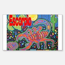 Escorpio Rectangle Decal