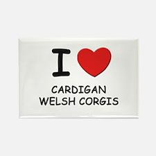 I love CARDIGAN WELSH CORGIS Rectangle Magnet