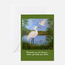 Two Egrets Greeting Card, blank inside