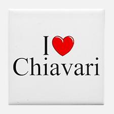 """I Love (Heart) Chiavari"" Tile Coaster"