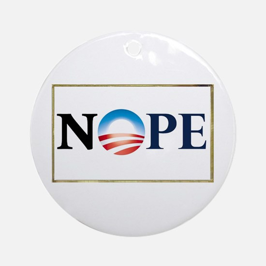 Barack Obama NOPE Ornament (Round)