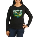 Earth Kids Iowa Women's Long Sleeve Dark T-Shirt