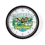 Earth Kids Iowa Wall Clock