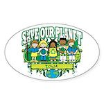 Earth Kids Iowa Oval Sticker (10 pk)