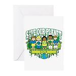 Earth Kids Iowa Greeting Cards (Pk of 10)