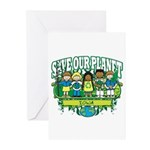 Earth Kids Iowa Greeting Cards (Pk of 20)