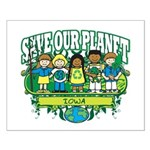 Earth Kids Iowa Small Poster