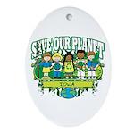 Earth Kids Iowa Oval Ornament
