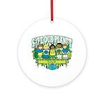 Earth Kids Iowa Ornament (Round)
