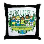 Earth Kids Iowa Throw Pillow
